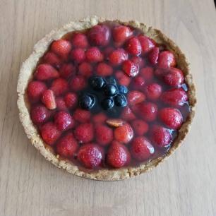 Vegan_aardbeien_zomertaart_glutenvrij
